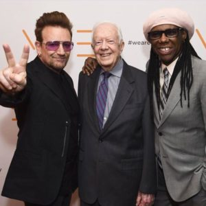 Best DJ night ever, with Bono, Jimmy Carter, Nile Rodgers, WAFF Gala