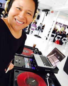 DJing at Studio 450 Just Peace Summit 2016