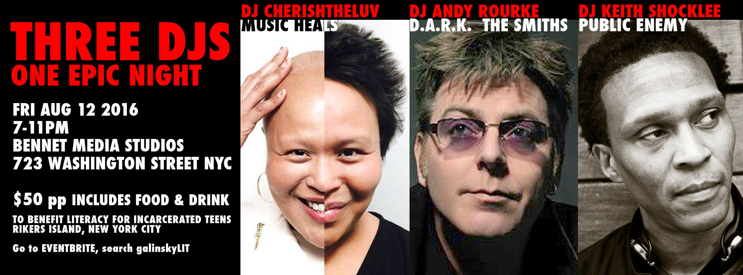 DJ CherishTheLuv Cynthia Malaran, Andy Rourke The Smiths, D. A. R. K., Keith Shocklee Public Enemy