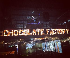 DJing at Fine&Raw Chocolate Factory