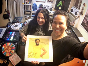 In my Studio, with WBAI's The Sweet Spot DJ BabyK Love, the awesome Kelly Webb, bringing me a blessing from Roy Ayers