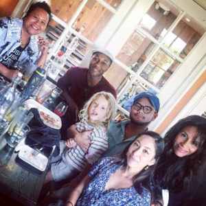 Love&Music family with ALOE BLACC, KIMBERLY MOORE, four DJs; ME, TYLER THURMOND (BLACKSTREET'S DJ), DANIELA DJ XICA SOUL from Cookie Crew, and my brother holding the camera MISTA CHINN, We are working on the big love and a lot of music magic, trying to make this a better world.