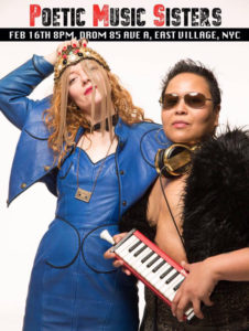 PMS Poetic Music Sisters at DROM NYC, Photo by the legendary Michael Halsband