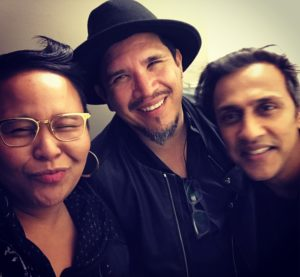 Chillin' with my friends, Rob Garza of Thievery Corporation and Stanley George of Stanley's Pharmacy. Go to iTunes and buy TC's new album, The Temple of I & I. Hot stuff!